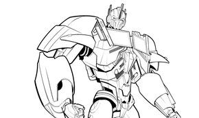 Optimus Prime'ı Boya (Yazdır)