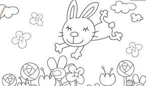 Sevimli Tavşanı Boyama Oyunu